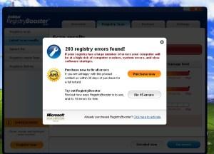 9. Win32/RegistryBooster trójai