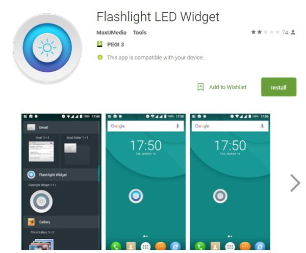 Flashlight alkalmazás