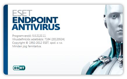 ESET NOD32 Antivirus kezdőképernyő