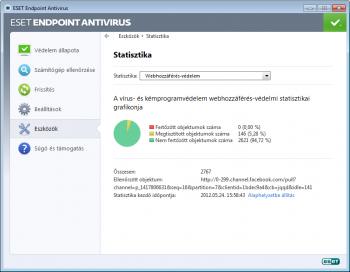 ESET NOD32 Antivirus statisztika ablak