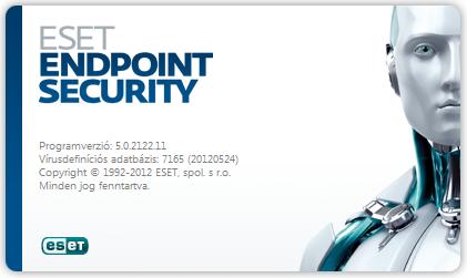 ESET Smart Security kezdőképernyő